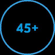 45 plus circle