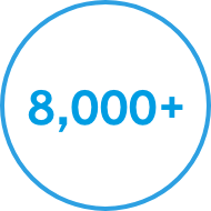 8000 blue circle